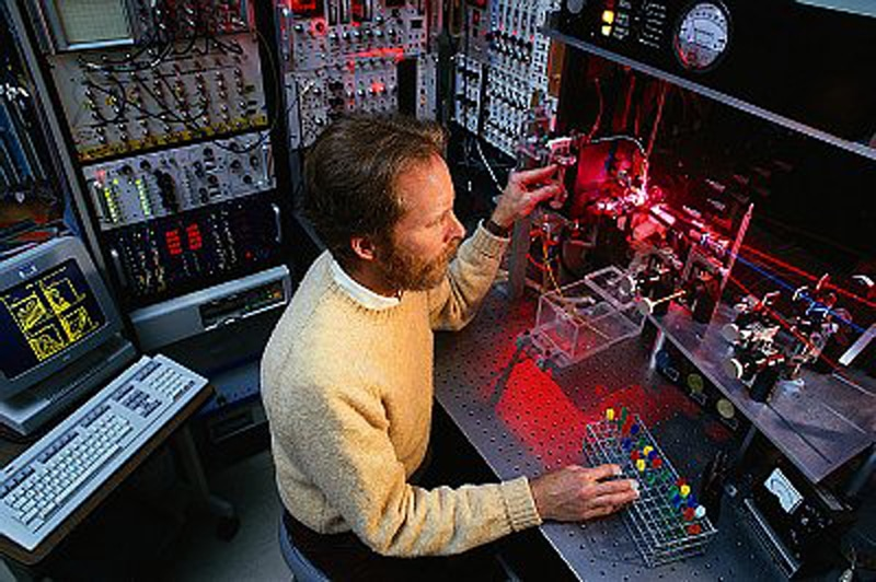 Technician Working with Lasers
