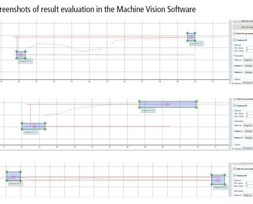 Detection of surface defects Machine vision software screenshots