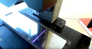 Video of planarity plates measurement