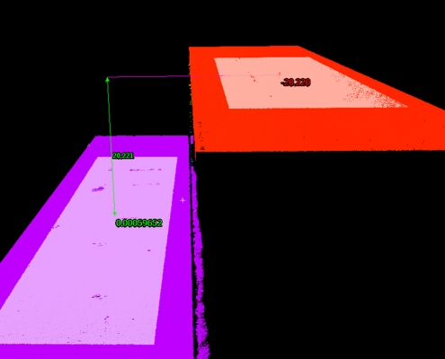 3D point cloud and thickness measurement of aluminum ingot