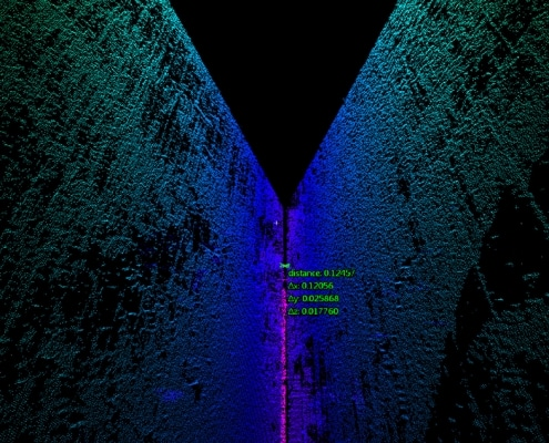 3D Point Cloud of a Zero Gap